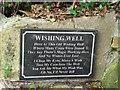 H1796 : Plaque, Wishing Well by Kenneth  Allen