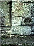 SY6778 : Benchmark on Holy Trinity Church by Roger Templeman