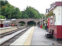 SK2854 : Railway Station, Wirksworth by Dave Hitchborne