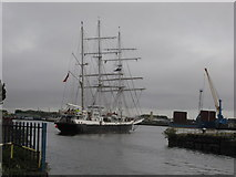 ST1974 : Lord Nelson turns in Roath Dock, Cardiff by Gareth James