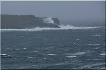 HP6611 : Stormy seas breaking over the Nev by Mike Pennington