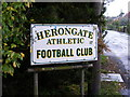 TQ6391 : Herongate Athletic Football Club sign by Adrian Cable