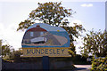 TG3135 : Mundesley Village Sign, Mundesley, Norfolk by Christine Matthews