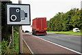 J2358 : Speed camera sign, Hillsborough bypass by Albert Bridge