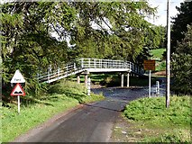 NY8450 : Ford and footbridge over the River East Allen by Oliver Dixon