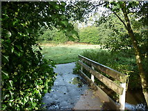 SE2837 : A bridge over Meanwood Beck, Leeds by Ian S