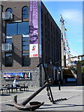 ST5772 : Anchor at Wapping Wharf by Thomas Nugent