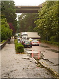 SZ0891 : Bournemouth: lorry turning from St. Stephen's Way into Braidley Road by Chris Downer