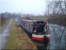 TQ0580 : Narrowboat near Packet Boat Marina by Derek Harper