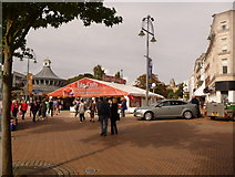 SZ0891 : Bournemouth: craft fair marquee by Chris Downer