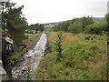 NY7743 : River Nent at Nenthead by Les Hull