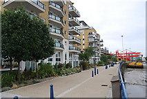 TQ2575 : Thames Path, Riverside West, Wandsworth by N Chadwick