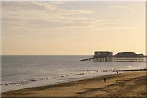 TG2142 : Cromer Beach and Pier, Norfolk by Christine Matthews
