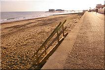 TG2142 : Lower Promenade, West Beach, Cromer, Norfolk by Christine Matthews