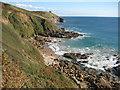 SW5827 : Coastline near Rinsey Head by Philip Halling