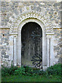 TF6923 : All Saints' church in Roydon - Norman north doorway by Evelyn Simak