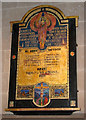TF6923 : All Saints' church in Roydon - war memorial by Evelyn Simak