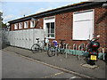 TQ3951 : Cycle parking at Hurst Green station by Stephen Craven