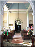TF6415 : All Saints' church in North Runcton - view west by Evelyn Simak