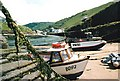 SX0991 : Low tide at Boscastle harbour (1989) by Graham Hogg
