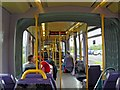 O0830 : Interior of LUAS Red Line tram at Red Cow/An Bhó Dhearg tram stop, Clondalkin by L S Wilson