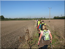 TR3256 : Walkers on parish 'Beat the Bounds' by Nick Smith