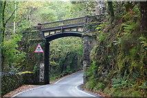 SH6441 : Railway Bridge at Tan-y-Bwlch, Gwynedd by Peter Trimming