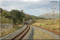 SH5752 : Welsh Highland railway at Rhyd Ddu by John Firth