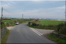 SH2428 : The Treheli crossroads at the foot of Mynydd Rhiw by Eric Jones