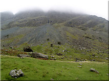 NY2114 : Misty Crags on Honister Pass by Andy Beecroft