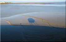 ST1972 : Shadows on the mud, Cardiff Bay by Dave Croker