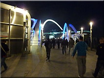 TQ1885 : London : Wembley - Footpath to the Stadium by Lewis Clarke