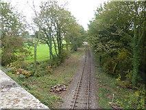 SK2947 : Railway line, near Idridgehay by Peter Barr
