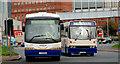 J3475 : Coach and bus, Belfast by Albert Bridge