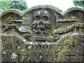 TG1439 : All Saints' church - gravestone (detail) by Evelyn Simak