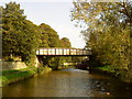 SD9850 : The Skipton to Grassington railway bridge over the canal by Andrew Abbott
