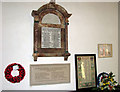 TF8902 : St George's church, Saham Toney - war memorials and roll of honour by Evelyn Simak
