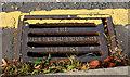 J3373 : Millfield Foundry grating, Belfast (2) by Albert Bridge