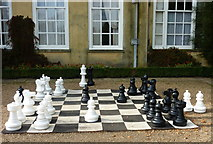 TQ1352 : Giant chess set at Polesden Lacey by pam fray