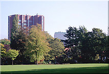 SO9098 : Wolverhampton skyline from West Park by Roger  Kidd