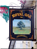 SN4562 : Sign for the Royal Oak by Maigheach-gheal