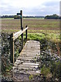 TM2766 : Footbridge on the Footpath to the B1116 Dennington Road & A1120 Button's Hill by Adrian Cable