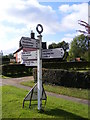 TM2867 : Old Roadsign in Dennington by Geographer