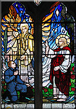TG4802 : All Saints' church in Belton - stained glass window by Evelyn Simak