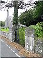 SN6083 : Gate, All Saints Church by Maigheach-gheal