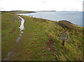 SW8632 : South West Coast Path at Killigerran Head by Row17