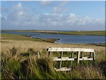 HY4950 : Loch of St Tredwell, Papa Westray by Becky Williamson