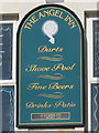 TQ8209 : The Angel Inn sign by Oast House Archive