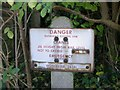 SP1752 : Danger sign by Chambers crossing by David P Howard