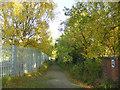 NZ2514 : Footpath near Water Treatment plant, Darlington by A Chilton